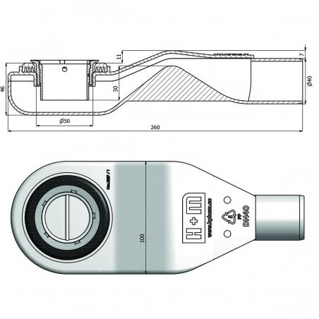 Siphon H+M Snake 50 mm